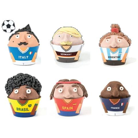 Wrappers World Cup Per Re Cupcake 24 Pz