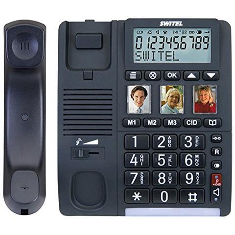 TF550 Telefono a Filo Senior con Pulsanti Grandi con Display +40 / +90dB Vivavoce