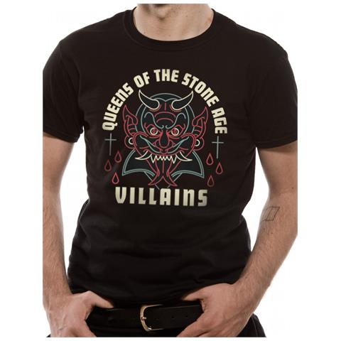 CID Queens Of The Stone Age - Villain (T-Shirt Unisex Tg. S)
