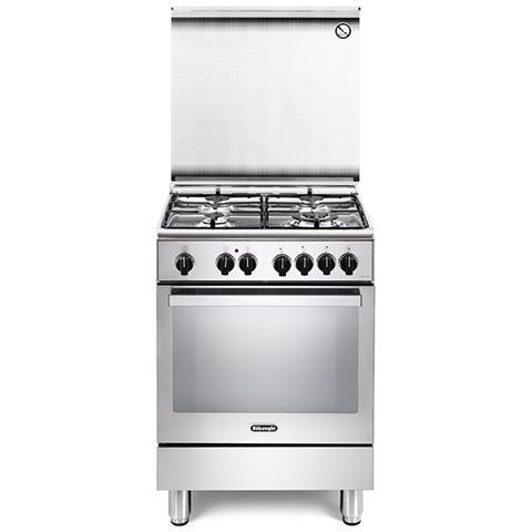 Cucina Elettrica PEMX64ED 4 Fuochi a Gas Forno Elettrico Multifunzione Termoventilato Clas...