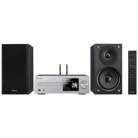 PIONEER HUB X-HM76-S (SILVER) 1291880, Micro set, Nero, Argento, Vassoio, 2-vie, 70 - 40000 Hz, 192kHz / 24-bit
