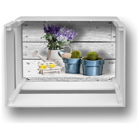 Lupia Mensola Decorativa Da Parete Design Moderno Shelf Box 30x40cm H. 20 Blue Pots