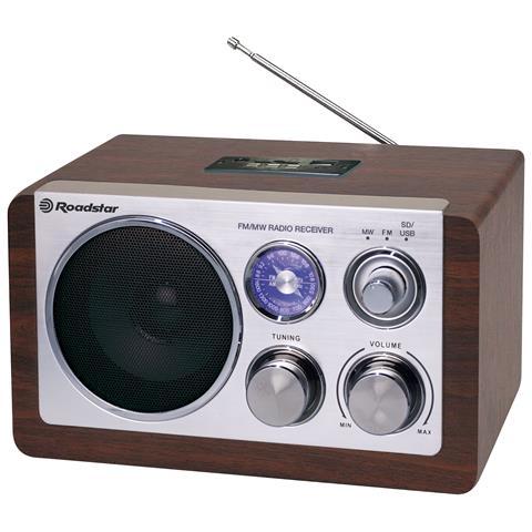 ROADSTAR HRA-1325US, Personale, Analogico, FM, MW, AC, Batteria, 87,5 - 108 MHz, Blu