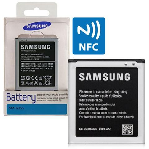 samsung Batteria Originale Per G355 Galaxy Core 2 Duos 2000 Mah Li-ion Con Tecnologia Nfc Eb-bg355bbe Blister