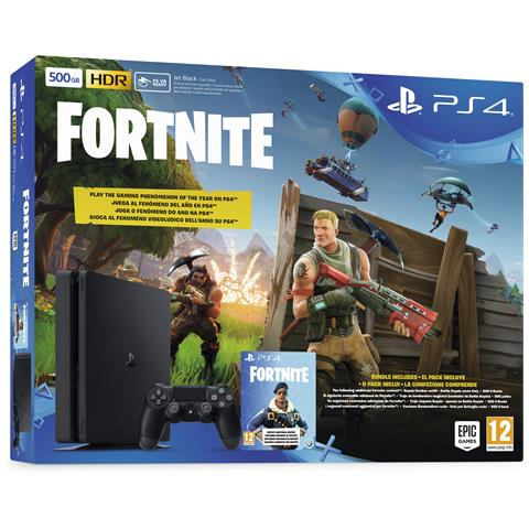 Image of Console Playstation 4 PS4 500 Gb E Slim + Fortnite Voucher Limited Bundle