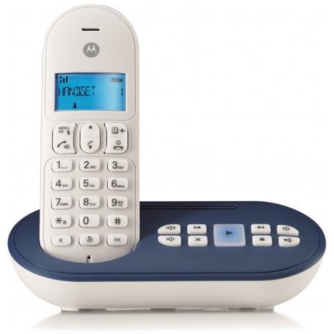 Cordless T111 con Vivavoce Segreteria e Wireless colore Blu