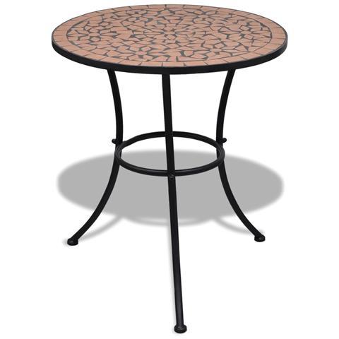 Tavolo In Ceramica Con Mosaico 60 Cm