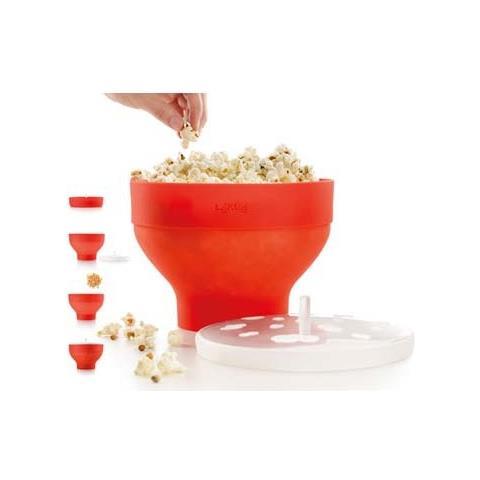 Ciotola Cuoci Popcorn X Microonde Silicone Rosso