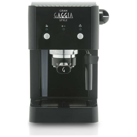 Gran Gaggia Style Macchina da Caffè Espresso Manuale Serbatoio 1 Litro Potenza 950 Watt Colore Nero