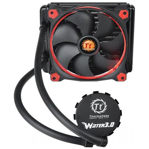 THERMALTAKE Dissipatore a Liquido Water 3.0 Riing per CPU Intel Socket LGA 115x / 1366 / 2011 (-V3) e AMD Socket AM2 / AM3 / FM1 / FM2