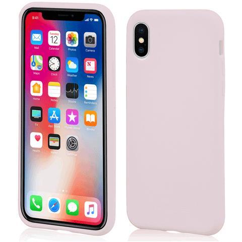 MOLS Custodia Antiurto per Apple iPhone X Sottile e Flessibile Italian Design Colore Sabbia rosa