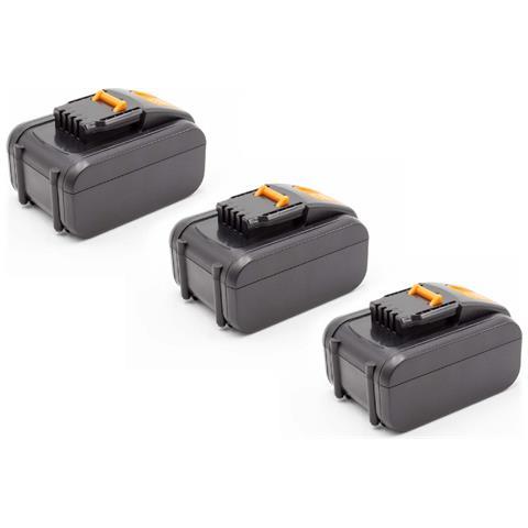 3x Li-ion Batteria 4000mah (16v) Per Strumenti Attrezzi Utensili Da Lavoro Worx Wx152, Wx1...
