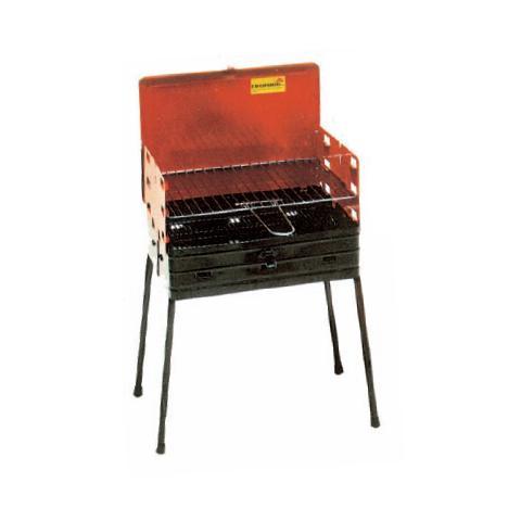 Barbecue a legna o carbone e griglia in acciaio richiudibile