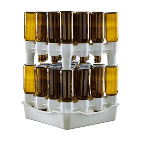Set Scolabottiglie A 2 Moduli Con Bacinella