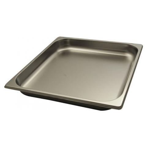 Teglia Gastronorm Gn Da Forno 2/3 H 40 Cm 32,5x35,5x4 Acciaio Inox 18/10 Abert