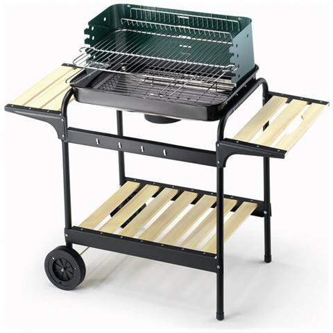 Image of Barbecue 60-40 Green / W Altezza 90 cm dimensioni del braciere 58 x 38 cm Peso 8.5 Kg