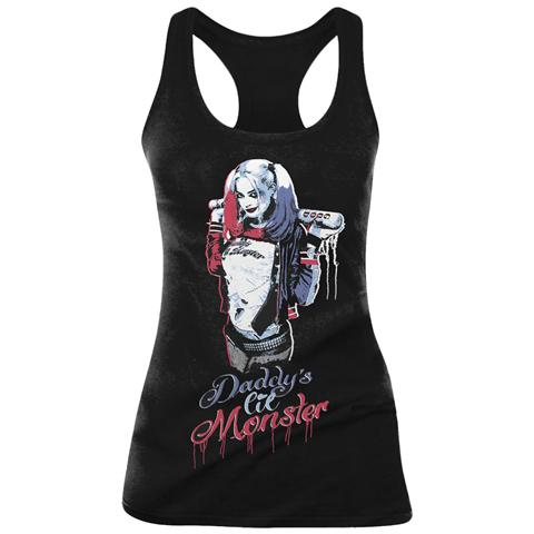TimeCity Suicide Squad - Daddy's Little Monster Black (Canotta Donna Tg. XL)