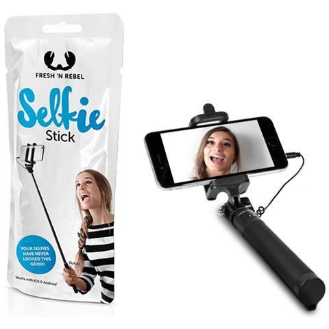 FRESH N REBEL Asta Selfie Stick colore Nero