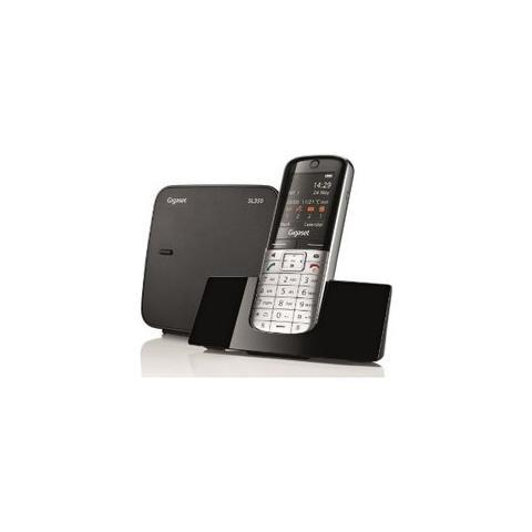 """Gigaset Cordless Sl350 Display 1.8"""" colore Argento / Nero"""