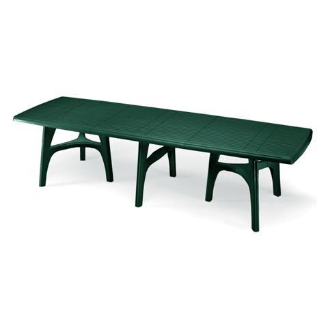 Tavolo da Giardino Rettangolare President 3000 Verde Deco Top Optical