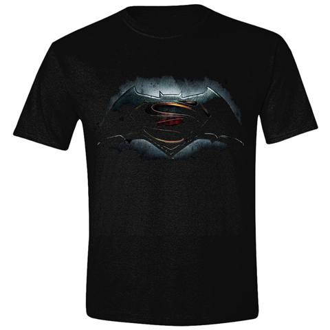 TimeCity Batman V Superman - Logo Boys Black (T-Shirt Bambino Tg. XL)
