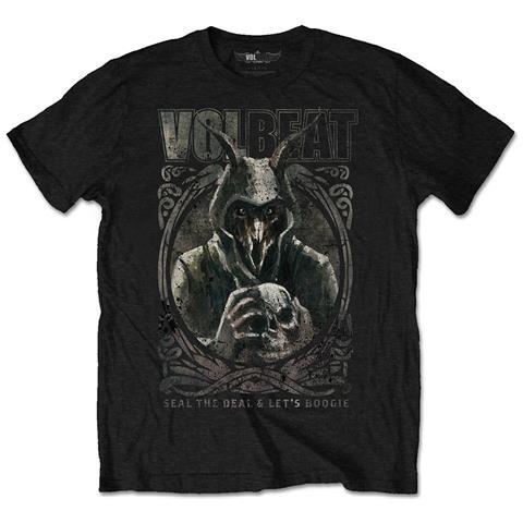 ROCK OFF Volbeat - Goat With Skull (T-Shirt Unisex Tg. M)