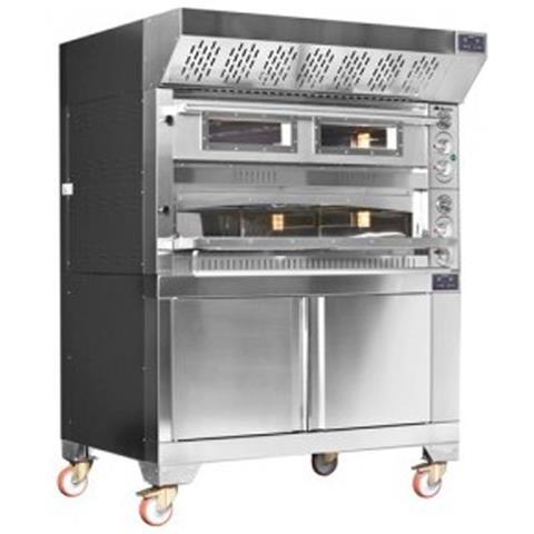Forno pizza elettrico doppia camera cm. 105x105 - 21,6 Kw.
