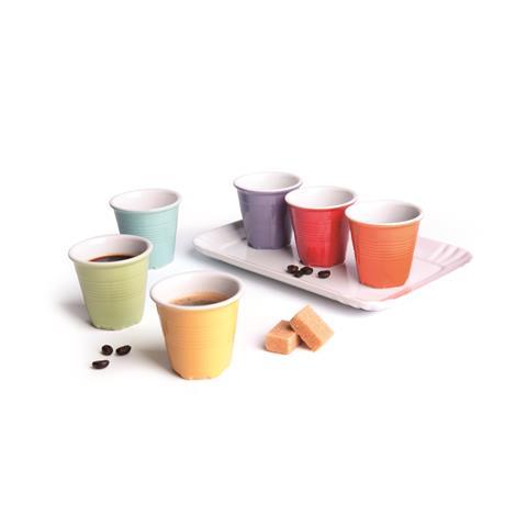 Conf. 6 Tazze Caffe'Con Vassoio