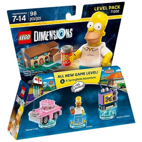 WARNER BROS LEGO Dimensions Level Pack Simpson Homer