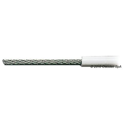 Cavo inox 49 fili rivestito in PVC 3 x 6 mm
