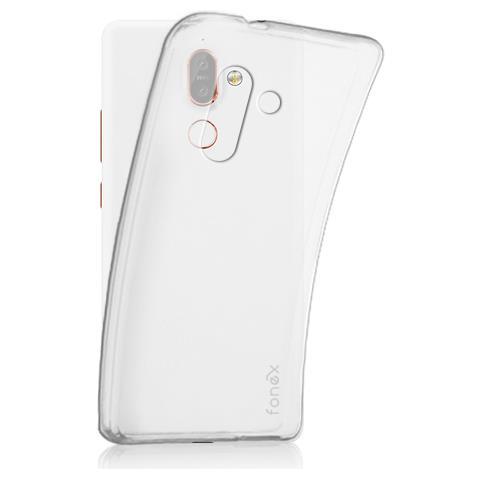 FONEX Cover Inv Soft Ultra Sottile 0,2 Mm In Morbido TPU Per Nokia 7 Plus Colore Trasparente