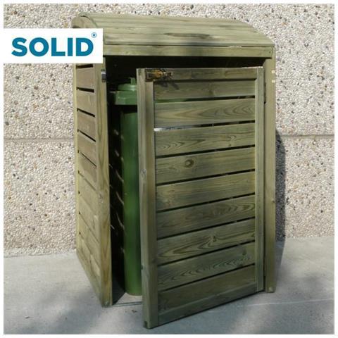 Pattumiera Porta Bidoni In Legno Per Esterno Solid