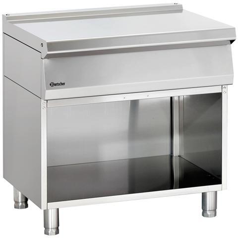 284007 Piano lavoro in acciaio Inox con vano neutro 80X70X85