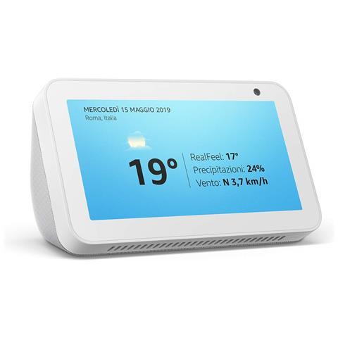 Echo Show 5.5'' Alexa Assistant Touch Screen Wi-Fi, Bluetooth Bianco