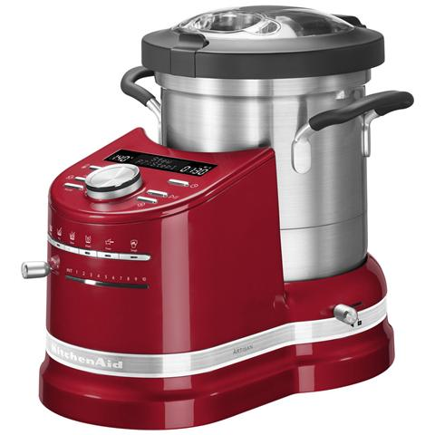 Cook Processor Artisan Robot da Cucina Potenza 1500 Watt Capacità 4.5 Litri 5KCF0103EER Colore Rosso Imperiale