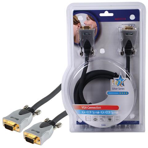HQ Cavo di collegamento VGA con spine dorate e doppia schermatura