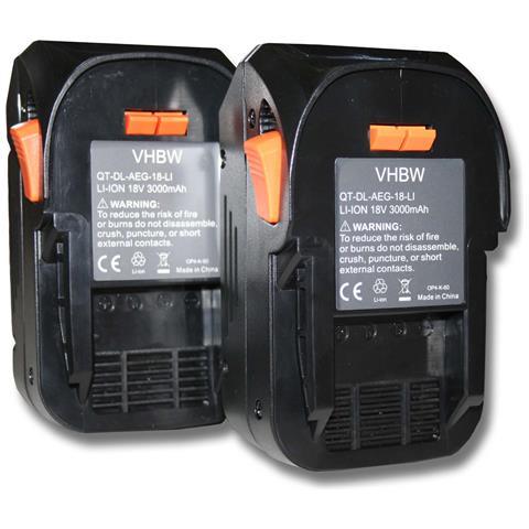 2x Batteria Sostituisce Aeg L1815r, L1830r Per Attrezzi Da Lavoro (3000mah Li-ion 18v)