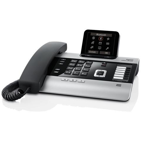 GIGASET Telefono Fisso DX 800 A con Vivavoce e Segreteria colore Nero