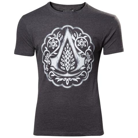 BIOWORLD Assassin's Creed Movie - Florel Crest Logo Black (T-Shirt Unisex Tg. 2XL)