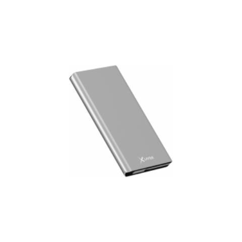 XLAYER 211524, Polimeri di litio (LiPo) , USB, Grigio, Micro-USB, Alluminio, Smartphone, Tablet