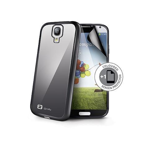 CELLY Cover + Pellicola protettiva per Galaxy S4 - Nero