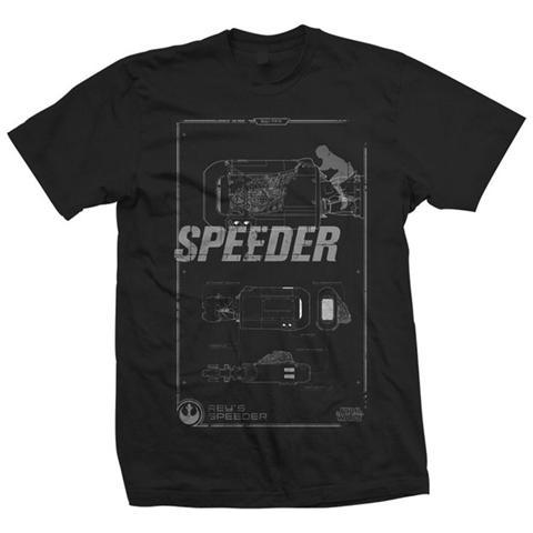 ROCK OFF Star Wars Rey's Speeder Tech Black (T-Shirt Unisex Tg. S)
