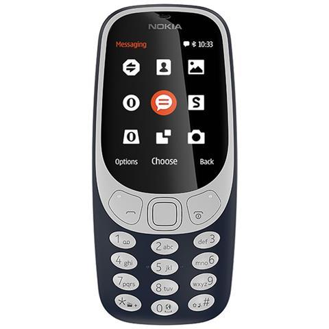 "NOKIA 3310 Blu Display 2.4"" +Slot MicroSD con Bluetooth RadioFM e Fotocamera 2Mpx - Tim Italia"