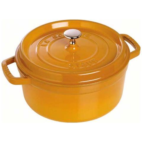 Cocotte tonda ghisa 28cm senape