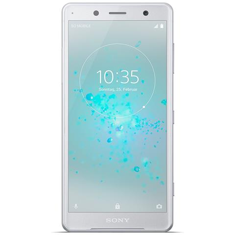 "SONY Xperia XZ2 Compact Argento 64 GB 4G / LTE Impermeabile Display 5"" Full HD+ Slot Micro SD Fotocamera 19 Mpx Android Italia"
