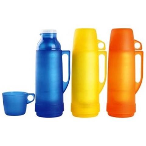 Bottiglia Isolante Colori Assortiti Thermos Isolante Per Liquidi Da 1/4 Di Litro Cioè 250 Ml Mod. Eva