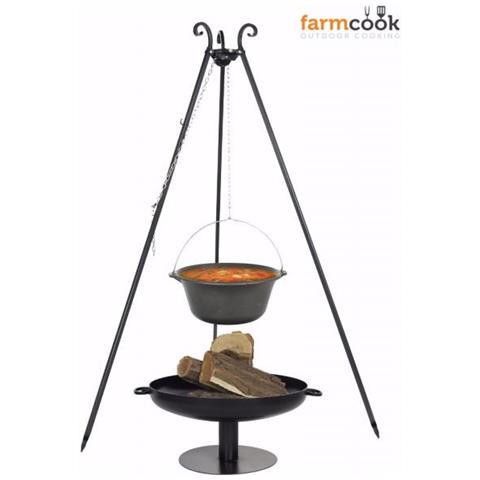 Pentola Sospesa E Barbecue Con Piedistallo Farmcook -16 L