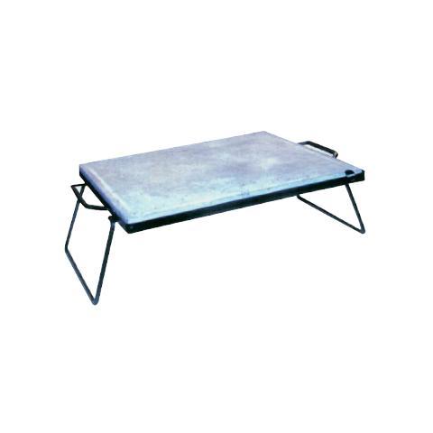 Pietra ollare con telaio e manici in acciaio 30 x 40 cm
