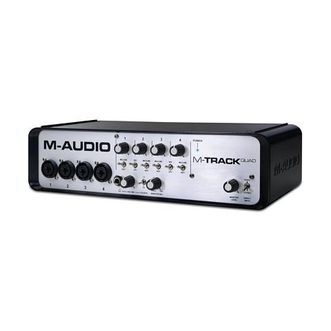 M-AUDIO EU plug - M-Track Quad Four-Channel Audio + MIDI USB Interface