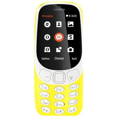 "NOKIA 3310 Giallo Display 2.4"" +Slot MicroSD con Bluetooth RadioFM e Fotocamera 2Mpx - Tim Italia"